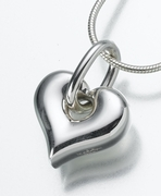 Cremation Urn Jewelry - Heart Pendant