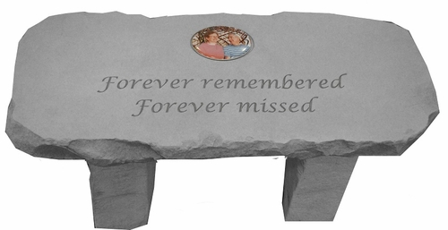 Custom Photo Memorial Bench - Forever Remembered