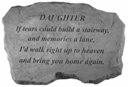 Daughter Memorial Stone - If Tears Could Build
