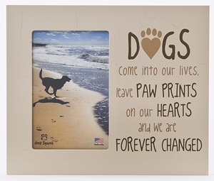dog memorial frame paw prints engraving option - Dog Memorial Frame