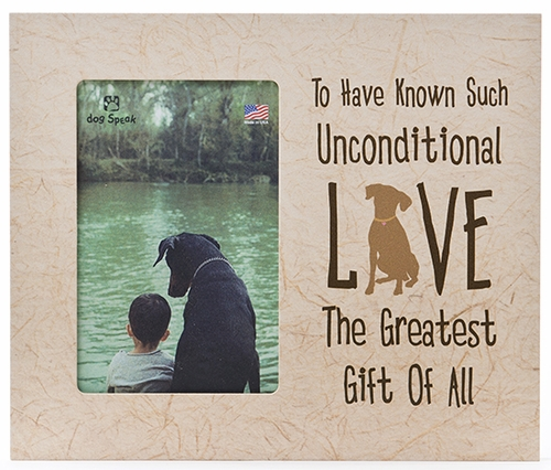Dog Memorial Frame - Unconditional Love - Engravable
