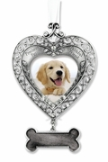 Dog Memorial Photo Ornament