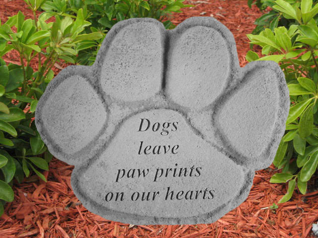 Remembrance Stones Garden Dog memorial stone dogs leave paw prints on our hearts workwithnaturefo