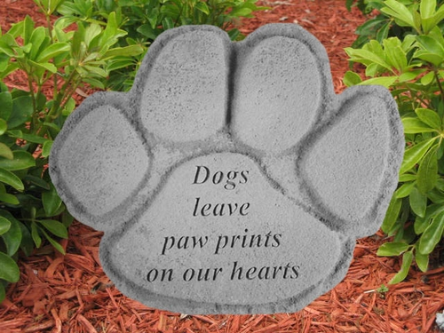 Dog Memorial Stone - Dogs Leave Paw Prints On Our Hearts