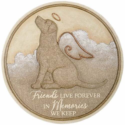 Dog Memorial Stone - Friends Live Forever