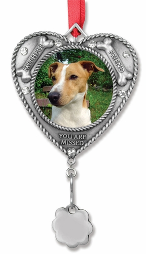 Dog Remembrance Photo Ornament