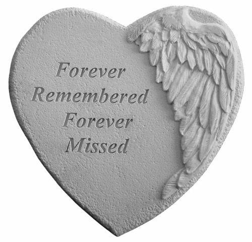 Forever Remembered - Garden Memorial Stone