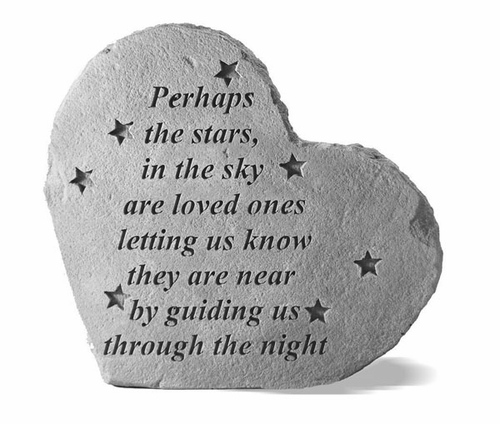 Garden Memorial Stone - Perhaps The Stars