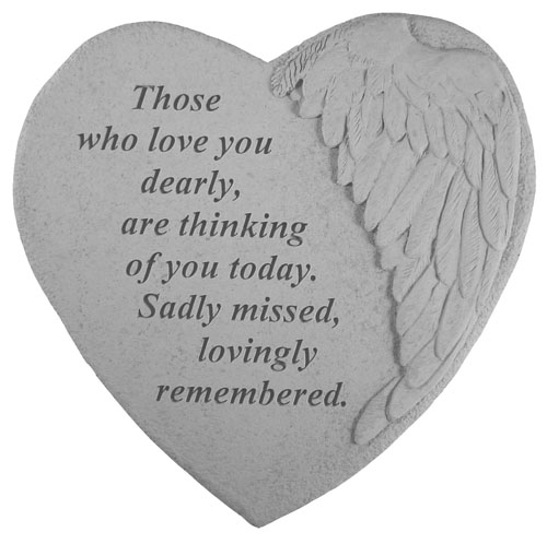 Garden Memorial Stone - Those Who Love You