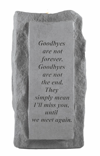 Goodbyes Are Not Forever - Memorial Candle Holder