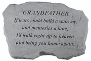 Grandfather Memorial Stone - If Tears Could Build