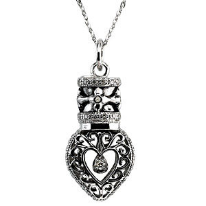 Heartfelt Tear Memorial Necklace w/poem