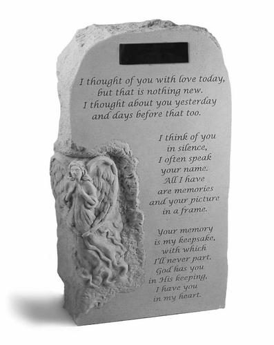 I Thought Of You With Love - Personalized Garden Memorial