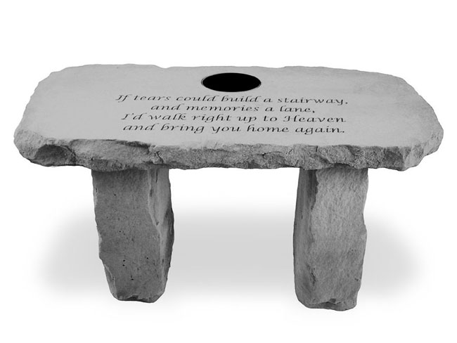 If Tears Could Build Memorial Garden Bench Personalized