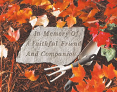 In Memory of a Faithful Friend - Garden Memorial Stone