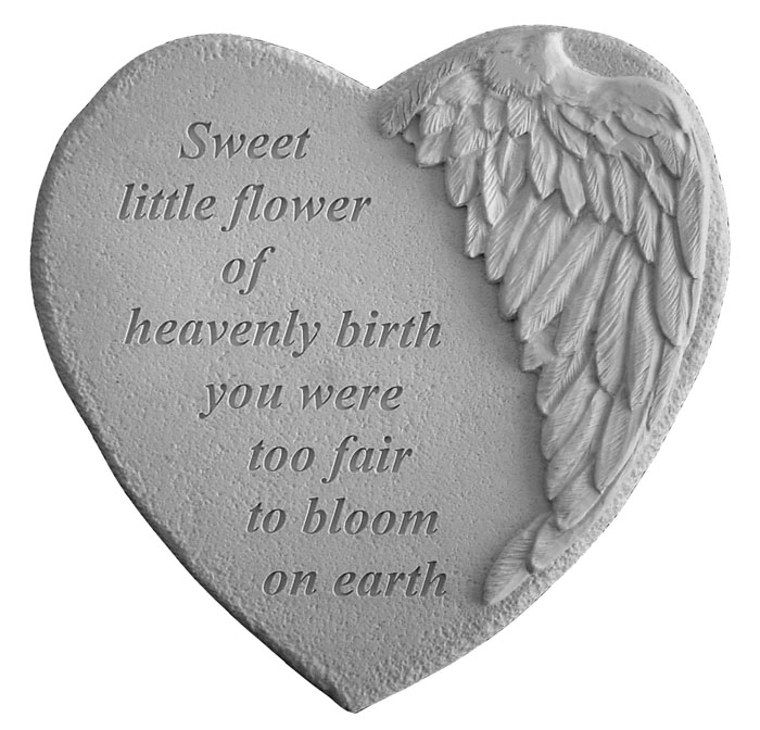 Sympathy Stones For The Garden Infant loss memorial garden stone sweet little flower workwithnaturefo