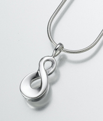 Infinity Cremation Jewelry Urn Pendant