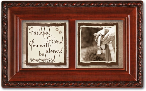 "Keepsake Music Box ""Faithful friend, You will always be remembered"""