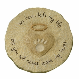Loss of Pet Memorial Stone with Paw Print