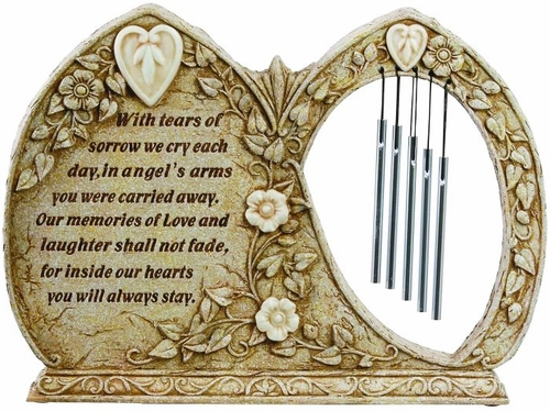 Luminous Memorial Garden Wind Chimes Sympathy Gift