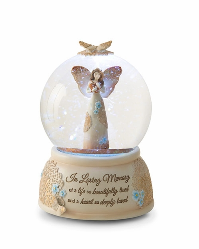 Memorial Angel Water Globe - In Loving Memory