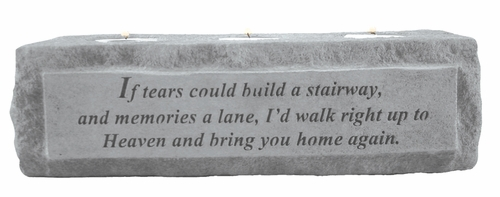 Memorial Candle Holder - If Tears Could Build