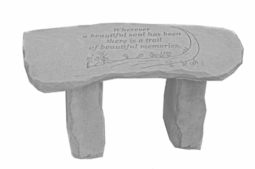 Memorial Garden Bench - Wherever A Beautiful Soul