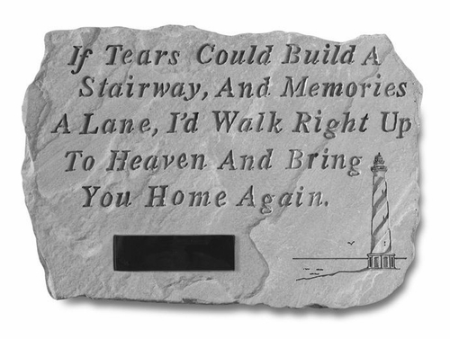 Memorial Garden Stone Personalized - If Tears Could Build