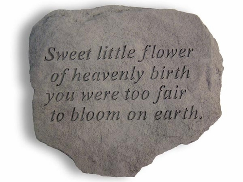 Memorial Garden Stone - Sweet Little Flower