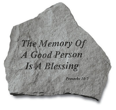 Memorial Garden Stone - The Memory of a Good Person