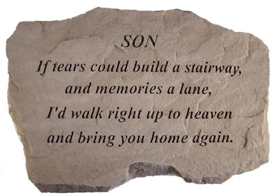Memorial Gift Stone - Loss of Son