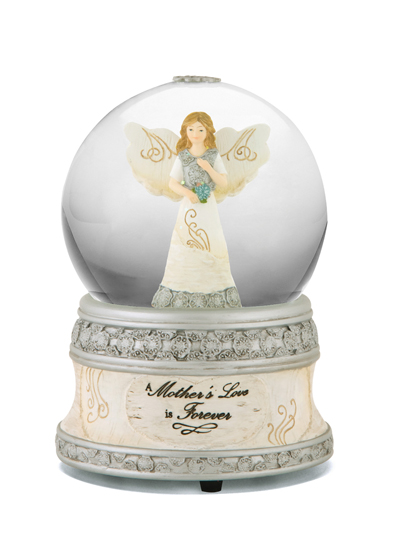 memorial music water globe a mother s love is forever