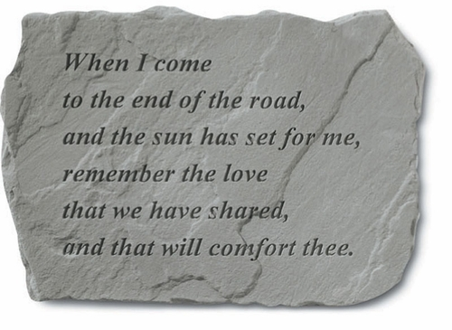 Memorial Stone - When I Come To The End Of The Road