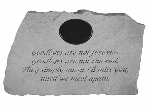 Memory Garden Stone Personalized - Goodbyes Are Not Forever