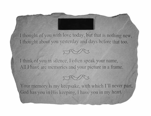 Memory Stone Personalized - I Thought Of You