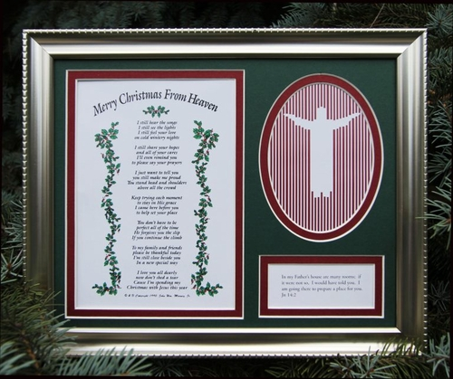 Merry Christmas From Heaven Photo Frame