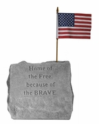 Military Memorial Stone Marker - Home Of The Free