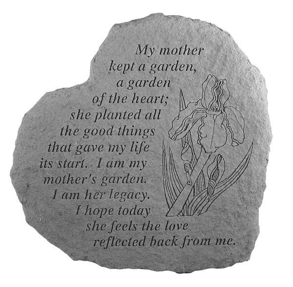 Sympathy Stones For The Garden Mother memorial stone my mother kept a garden mother memorial stone my mother kept a garden hover to zoom workwithnaturefo