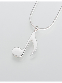 Musical Note Cremation Urn Pendant