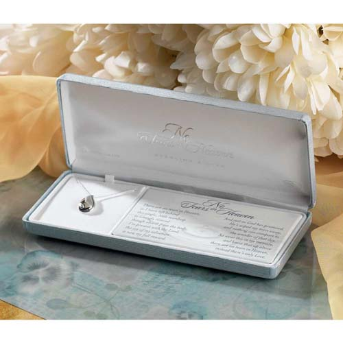 No Tears in Heaven Silver Plated Memorial Necklace