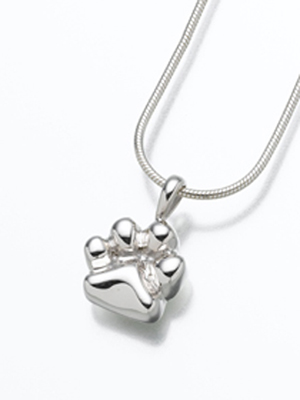 Paw Print Cremation Jewelry Urn
