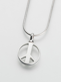 Peace Sign Cremation Pendant