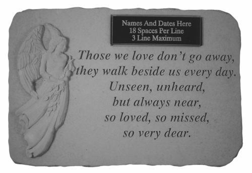 Personalized Angel Memorial Stone - Those We Love Don't Go Away