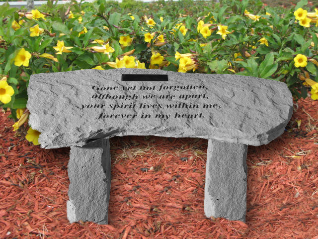 Personalized Garden Memorial Bench Gone Yet Not Forgotten