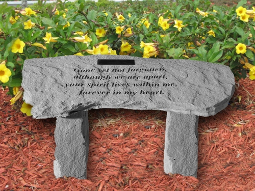 Personalized Garden Memorial Bench - Gone Yet Not Forgotten