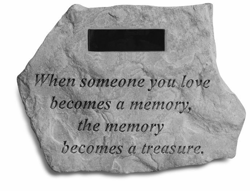 Personalized Garden Memorial Stone - When Someone You Love