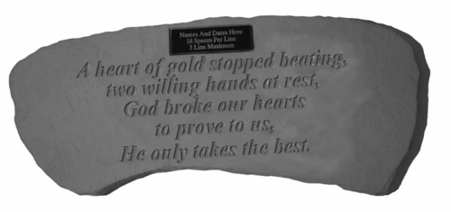 Personalized Memorial Bench - A Heart Of Gold