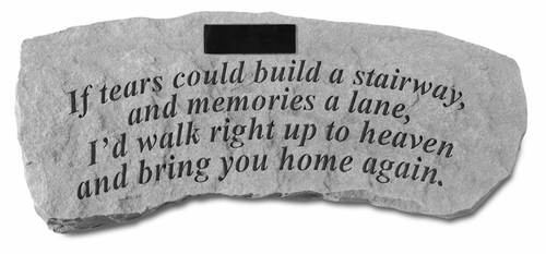 Personalized Memorial Garden Bench - If Tears Could Build