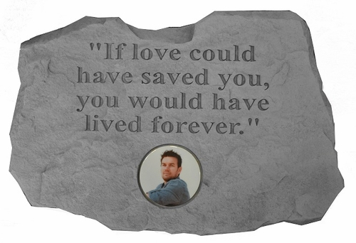 Personalized Memorial Photo Stone - If Love Could