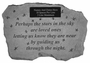 Personalized Memorial Stone - Perhaps The Stars In The Sky